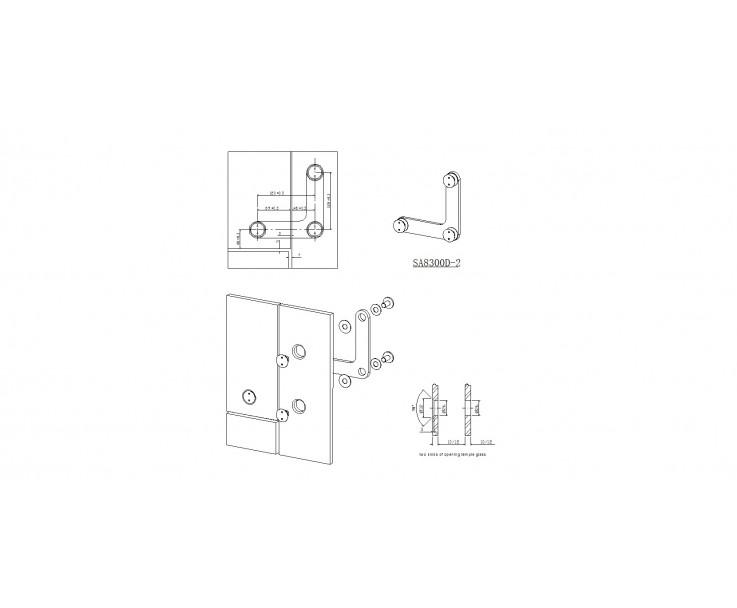 3-Punkt Glasverbindung 8300D-2, Bild 2