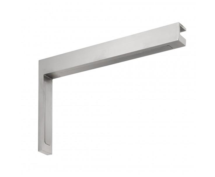 Stabilisierungswinkel 90° links für Glas-Duschen matt, Bild 2