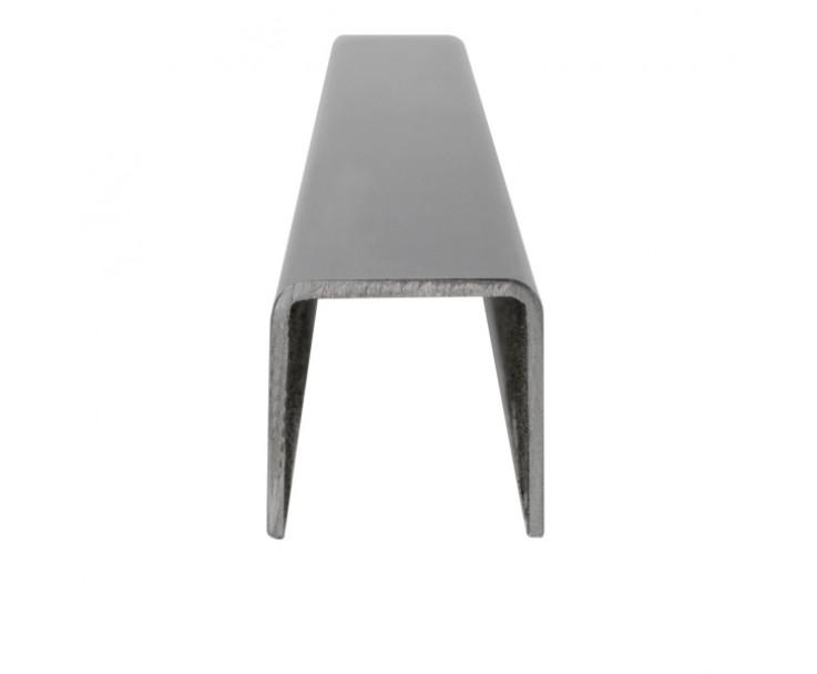Eckiger Edelstahl Kantenschutz mit abgerundeten Kanten für 17,52 mm Glas, Bild 2