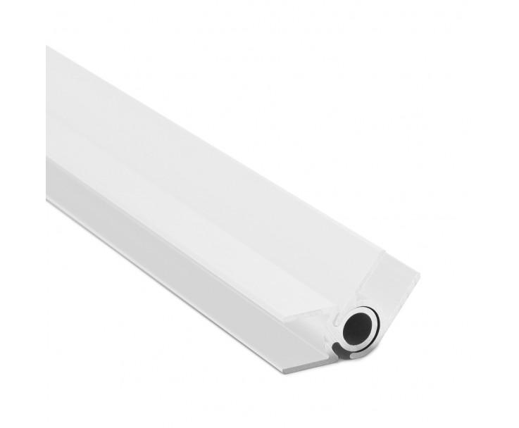 Flex-Eck-H-Profil-128° 10 mm - Weiss