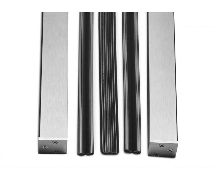 Komplettset inkl. Dichtungen und Endkappen für Glashöhe 900mm