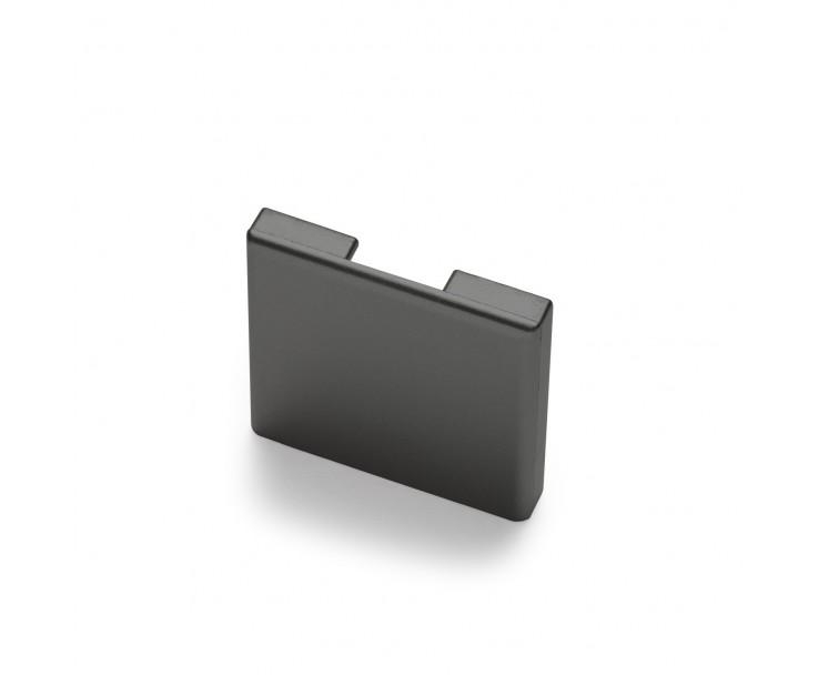 Passende Endkappe für das Glasklemmprofil Mini zum aufklipsen - Anthrazit