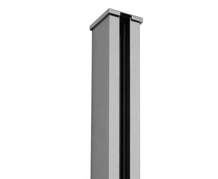 Passende Endkappe für das Glasklemmprofil Mini zum aufklipsen - Edelstahloptik, Bild 2