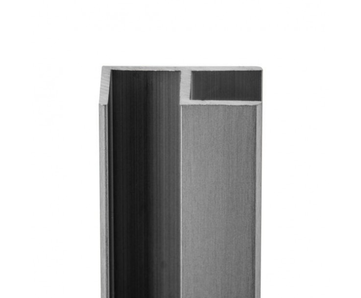 E-Profil-Alu 10 mm - Edelstahloptik, Bild 3