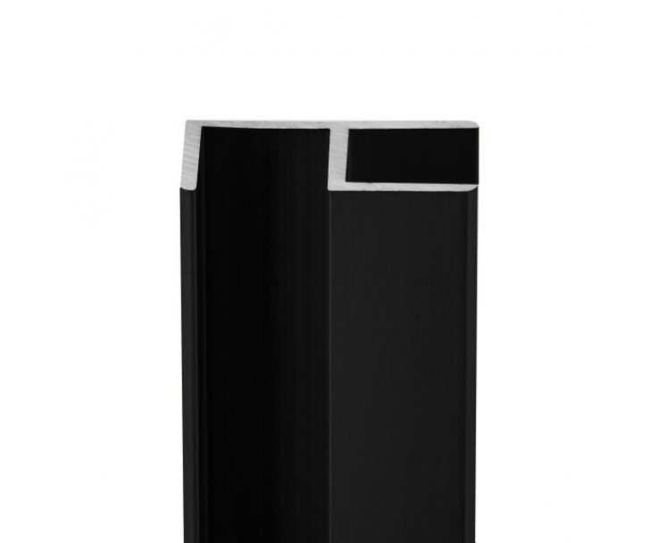 E-Profil-Alu 8 mm - Schwarz, Bild 3