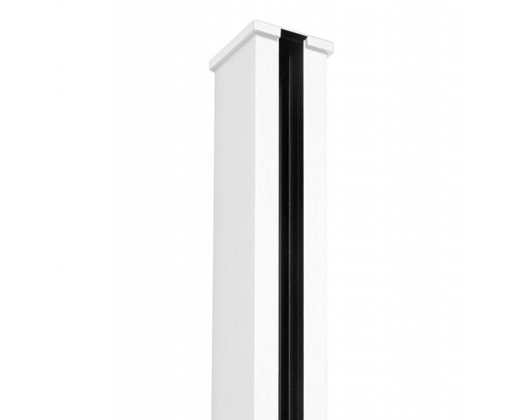 Passende Endkappe für das Glasklemmprofil Mini zum aufklipsen - Weiss, Bild 2