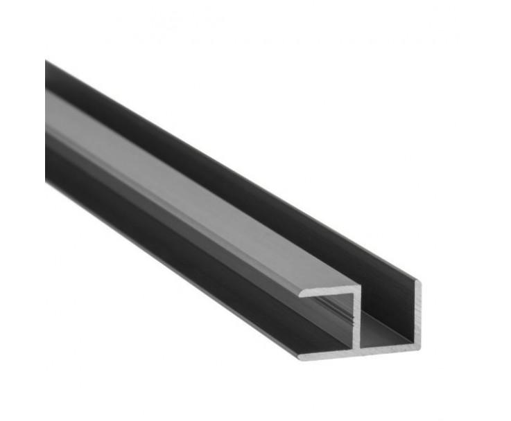 E-Profil-Alu 8 mm - Edelstahloptik, Bild 2