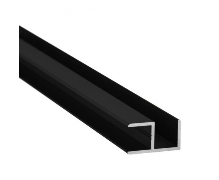E-Profil-Alu 10 mm - Schwarz, Bild 2