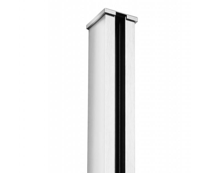 Passende Endkappe für das Glasklemmprofil Mini zum aufklipsen - Hochglanz, Bild 2