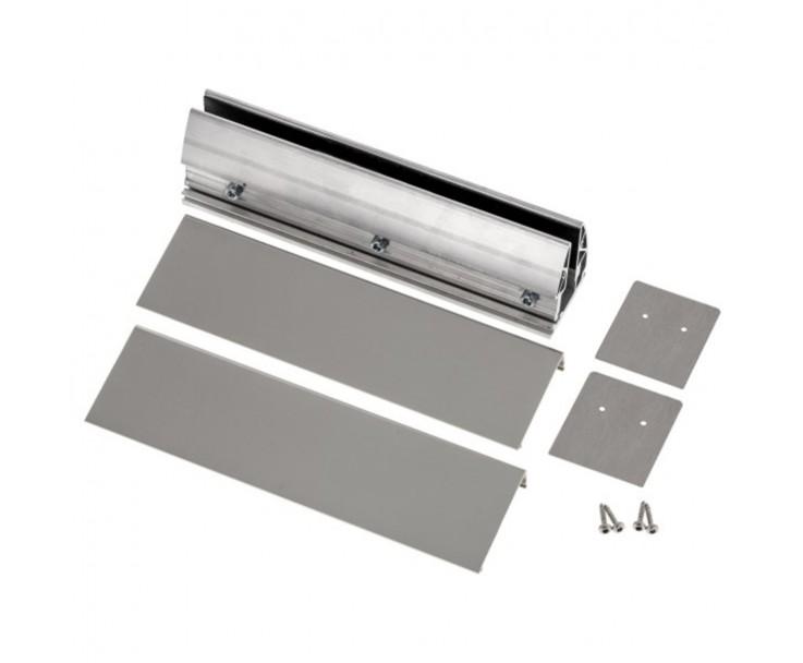 Stabile Bodenklemmleiste für Ganzglasgeländer zur aufgesetzten Montage, Bild 3