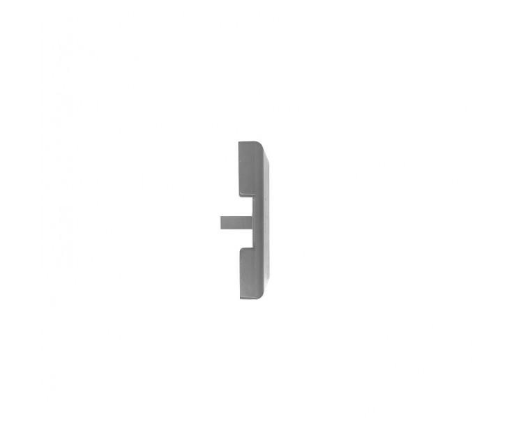 Passende Endkappe für das Glasklemmprofil Mini zum aufklipsen - Edelstahloptik, Bild 3
