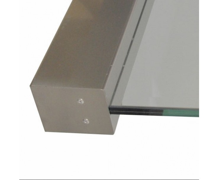 Klemmprofil eckig für Glasstärke 12,76 mm, Bild 3