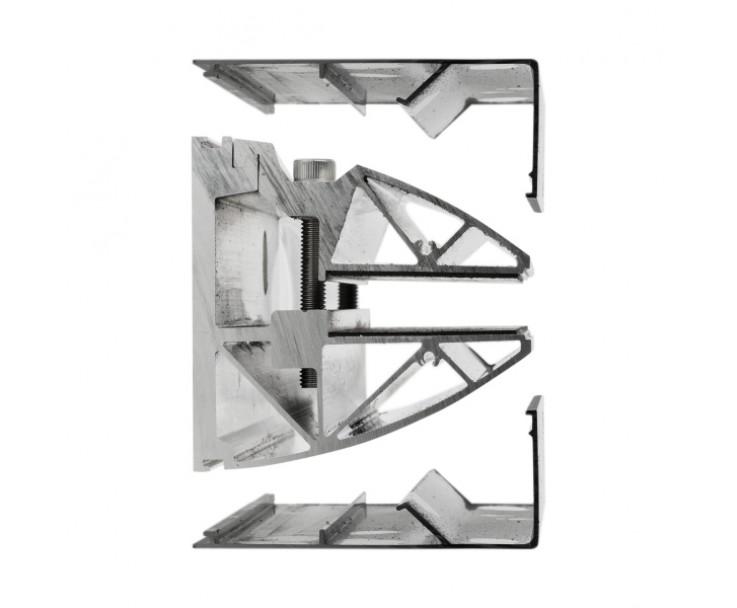 Montiertes Vordach mit Seitenwindschutz in Edelstahloptik, Bild 3