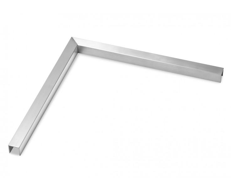 Formschöner Eckverbinder 90° zum Aufsetzen für 17,52 mm Glas
