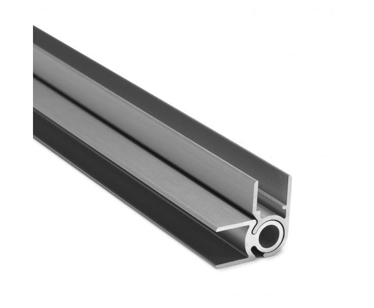 Flex-Eck-H-Profil-92° 10 mm - Edelstahloptik