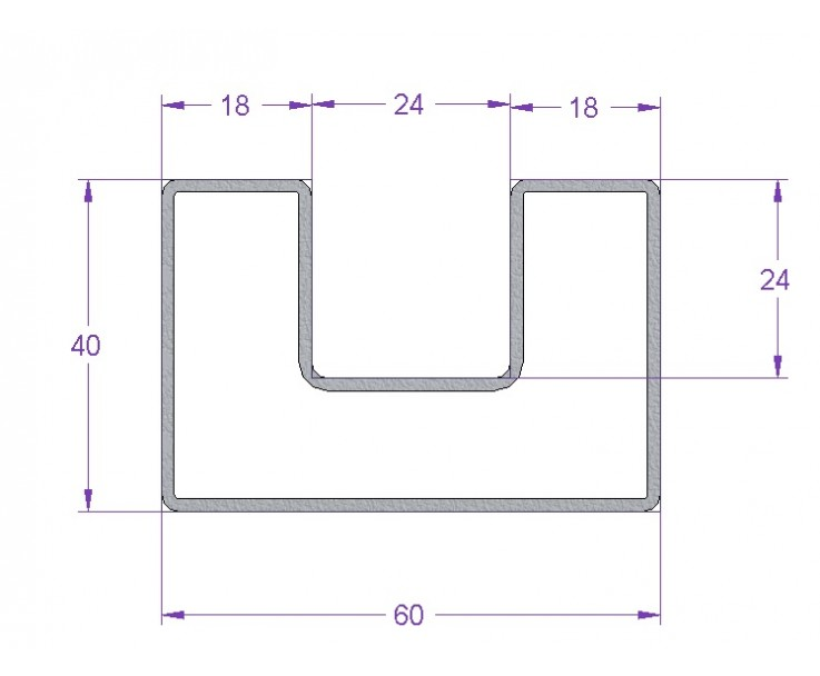 Stabiler Edelstahl Handlauf für 21,52 mm Glasstärke, Bild 3