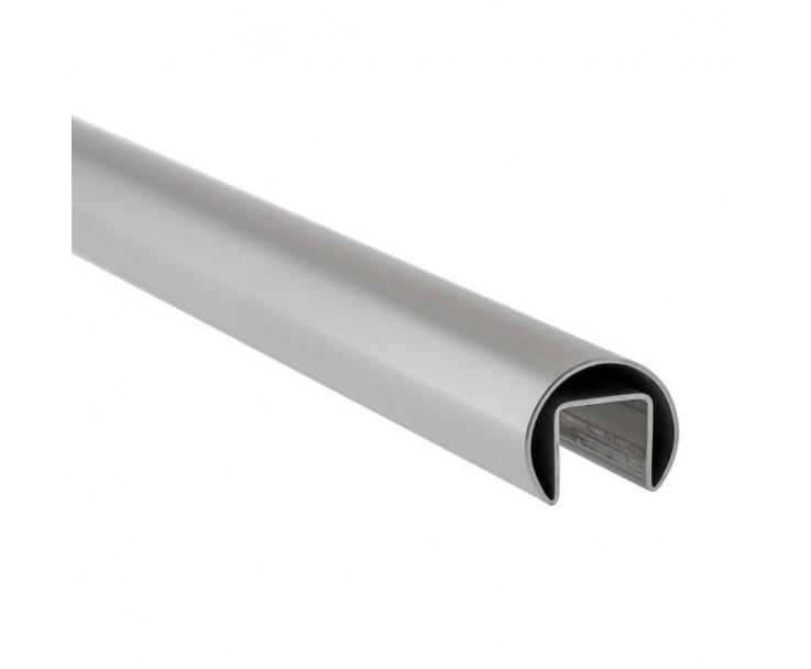 Stabiler Edelstahl Handlauf - 17,52 mm Glasstärke