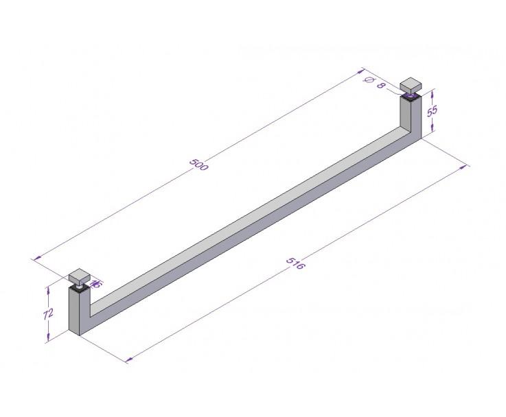 Handtuchhalter moderne quadratische Form, Bild 3