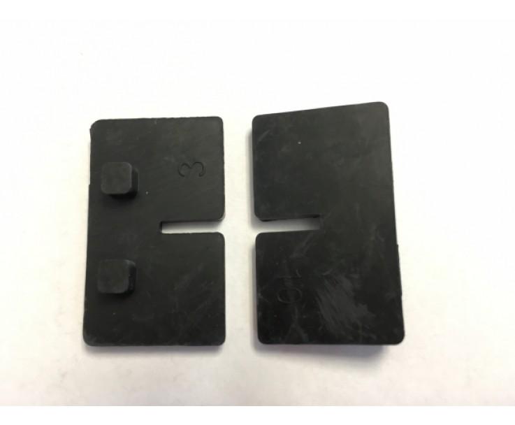 Glashalter vorgesetzt 8 - 12,76 mm, eckig -  einseitige Glasaufnahme für Endpfosten, Bild 2