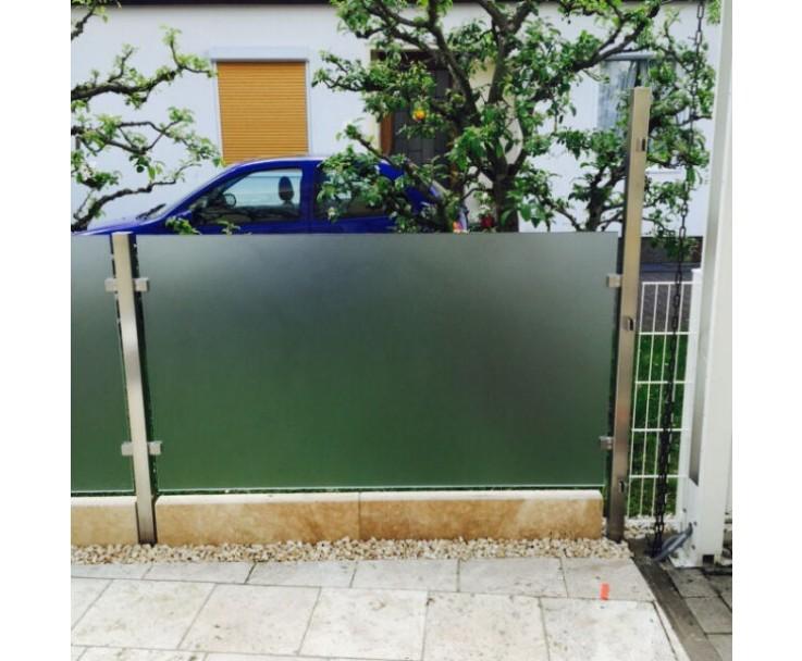 Eckpfosten Vierkant mit Glasaufnahme, Bild 5