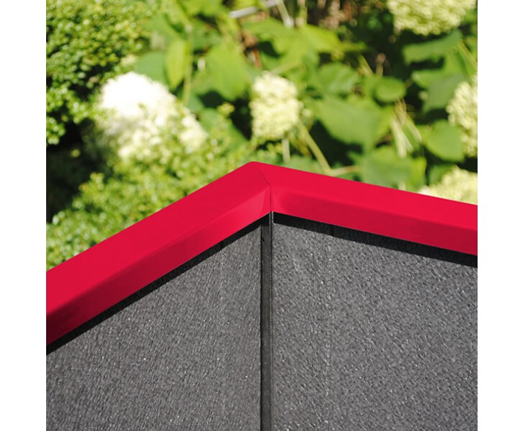 Pflanzkasten mit Wind- und Sichtschutz in individueller Farbbeschichtung - 1600 mm breite, Bild 5