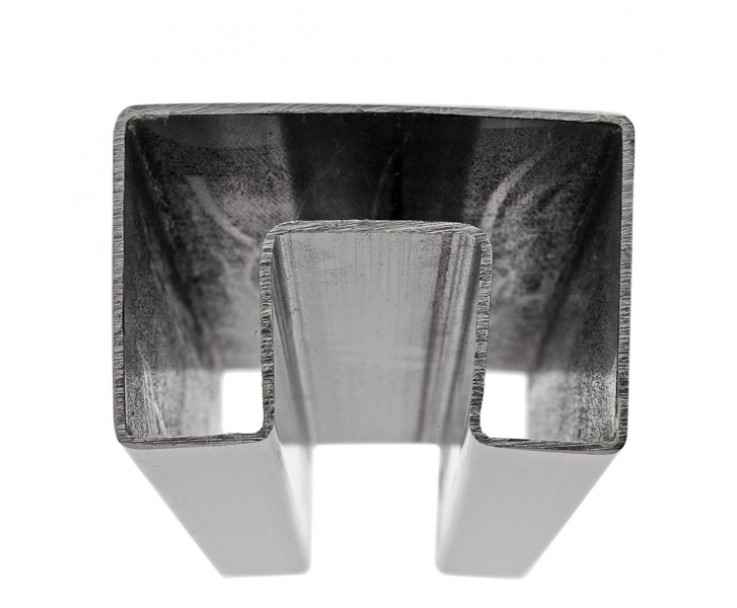 Stabiler Edelstahl Handlauf für 17,52 mm Glasstärke, Bild 2