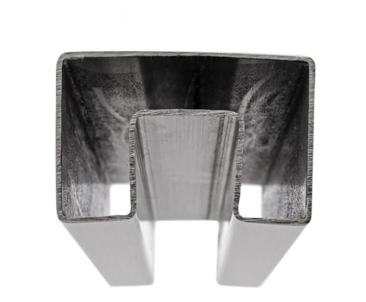Stabiler Edelstahl Handlauf für 21,52 mm Glasstärke, Bild 2