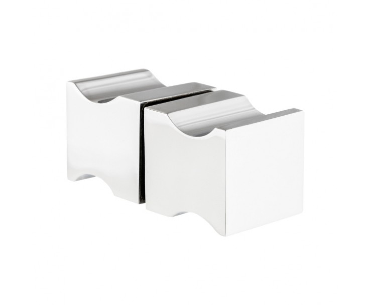 quadratischer moderner Griff in polierter Ausführung, Bild 5