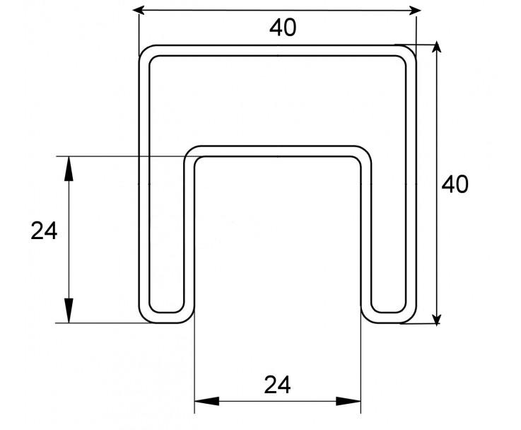 Stabiler Edelstahl Handlauf für 17,52 mm Glasstärke verwendbar, Bild 3