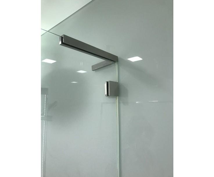 Stabilisierungswinkel 90° links für Glas-Duschen matt, Bild 7