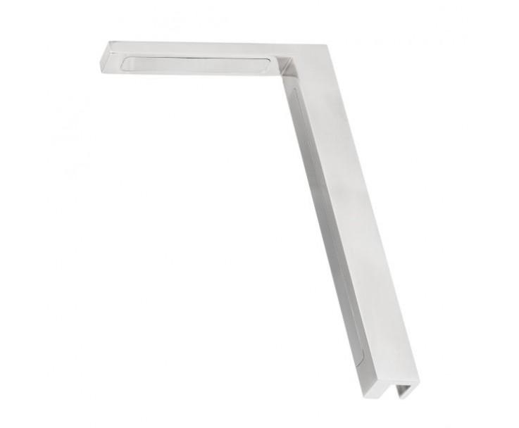 Stabilisierungswinkel 90° links für Glas-Duschen Hochglanz