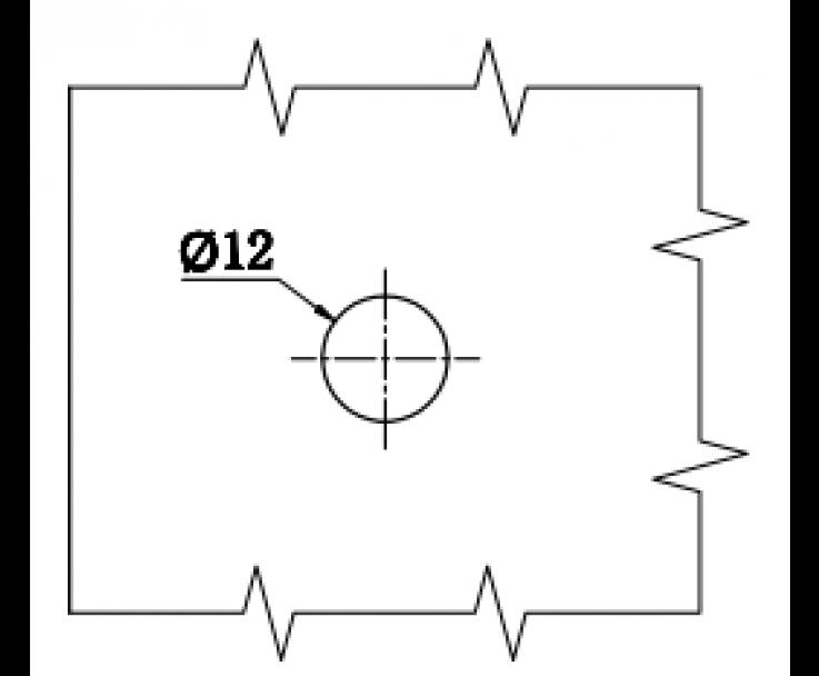 quadratischer moderner Griff in polierter Ausführung, Bild 3