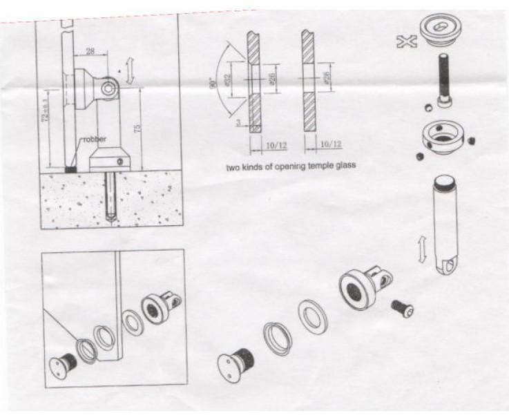 flächenbündiger Glas-Wand Verbinder 8000A-3, Bild 2