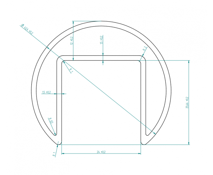 Stabiler Edelstahl Handlauf - 17,52 mm Glasstärke, Bild 4