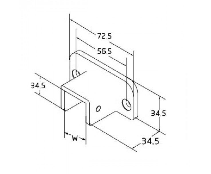 Stabiler Wandanschluss für den eckigen Kantenschutz U-Profil eckig, Bild 2