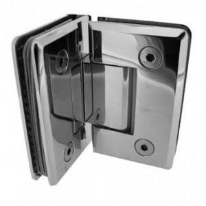 Scharnier Verbindung | Glas-Glas 90° | Hochglanz | R/L Anschlag
