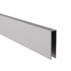 U-Profil innen 8,5 mm | matt gebürstet | 4 m lang