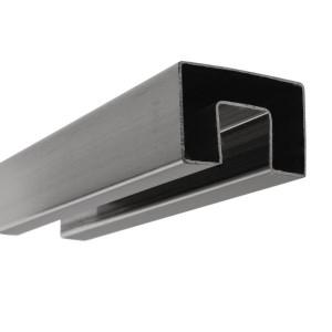 Handlauf hohlwandig eckig breit für 17,52 und 21,52 mm Glas
