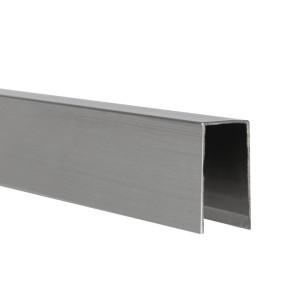 U-Profil innen 10,5 mm | matt gebürstet | 4 m lang