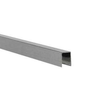 U-Profil innen 6,3 mm | matt gebürstet | 2,5 m lang