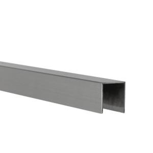 U-Profil innen 10 mm | matt gebürstet | 2,5 m lang