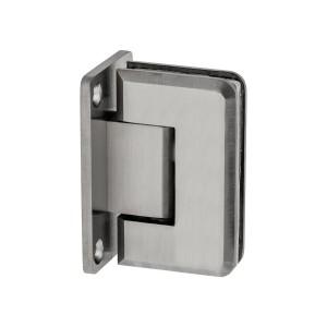 Scharnier Verbindung   Glas-Wand 90°   matt   R/L Anschlag