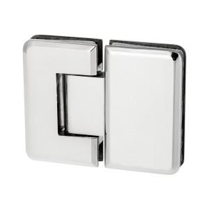 Scharnier Verbindung | Glas-Glas 180° | Hochglanz |  R/L Anschlag