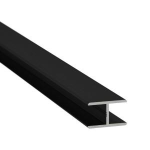 H-Profil Aluminium 13,52 mm - Schwarz