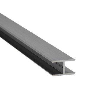 H-Profil Aluminium 13,52 mm - Edelstahloptik