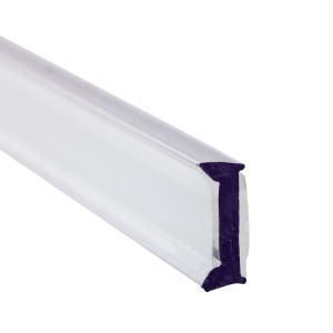 Glas Anlageprofil PET 10 mm - 3 m - Klar