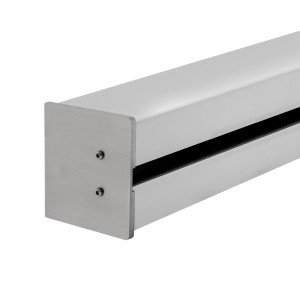 Wandklemmprofil rechtwinklig für 21,52 mm SentryGlas eckige Abdeckung Aluminium bis 5.000 mm Länge