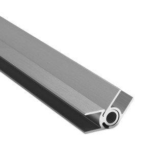 Flex-Eck-H-Profil-128°-178° 10 mm - Edelstahloptik