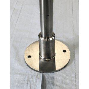 End-Pfosten rund 42 mm zum Aufschrauben