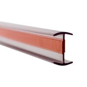 Glas Verbindungsprofil 180° PET 10 mm - 3 m - Klar